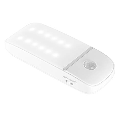 Luz Nocturna Luces LED Armario con Sensor Movimiento Lámpara con 3 Modos Luz fría para Armario, Pasillo, Escalera, Sótano, Cocina, Garaje, Gabinete,Armario [Clase de eficiencia energética A]