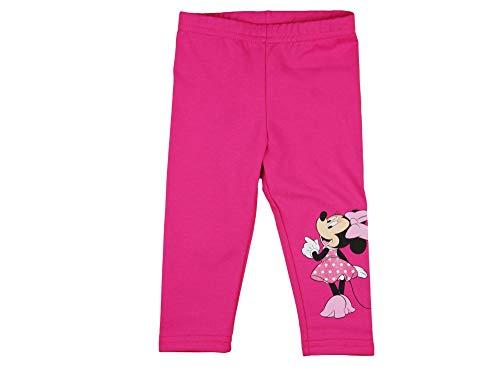 (Minnie Mouse Baby Mädchen Thermo-Leggings dick WARM und kuschelig, Grau oder Pink in Grösse 74 80 86 92 98 104 110 116 Baumwolle Herbst und Winter Thermo-Hose von Disney lang Farbe Pink, Größe 74)