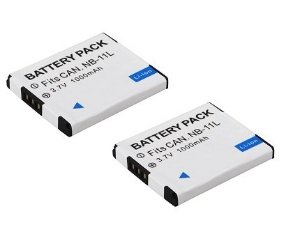 High Capacity - 2 x Rechargeable Battery for Canon Digital Cameras - Replacement for Canon NB-11L / NB-11LH Battery - AAA Products®