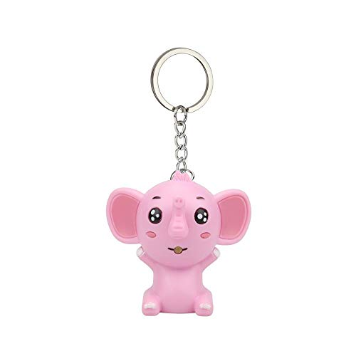 Firally Schlüsselanhänger für Kinder, Elefant mit Tier-Anhänger, Geschenk zum Geburtstag Valentinstag Rosa