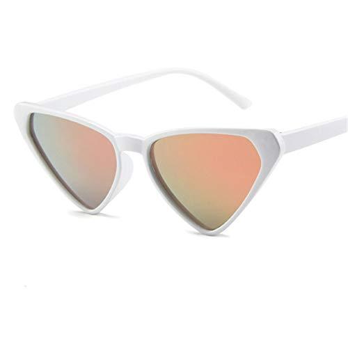 ZHOUYF Sonnenbrille Fahrerbrille Übergroße Sonnenbrille Frauen 90Er Jahre Cat Eye Sonnenbrille Weibliche Vintage Sexy Dreieck Brille, F