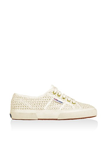 Superga  2750 Crochet, Baskets basses mixte adulte Beige