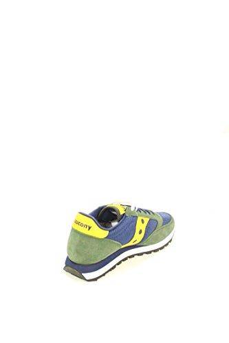 SAUCONY S70363-2 JAZZ ORIGINAL blu verde scarpe uomo sneakers lacci Blu/Giallo