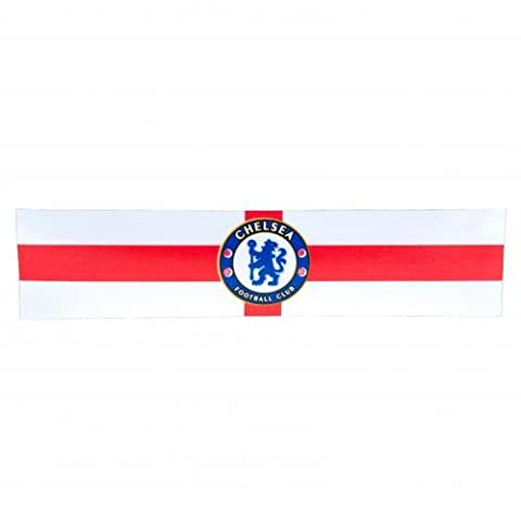 Chelsea F.C. Window Sticker St George- window sticker- approx 24cm x 5cm- on a header card- Official Football Merchandise