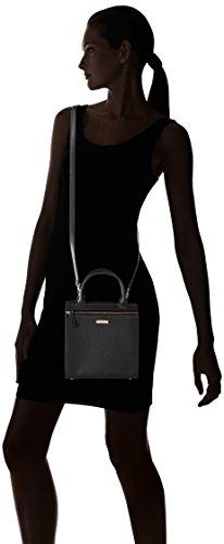 Damai Mini Essenza Cartella, Borsa a Tracolla Donna, 11 x 30 x 20 cm (W x H x L) Nero