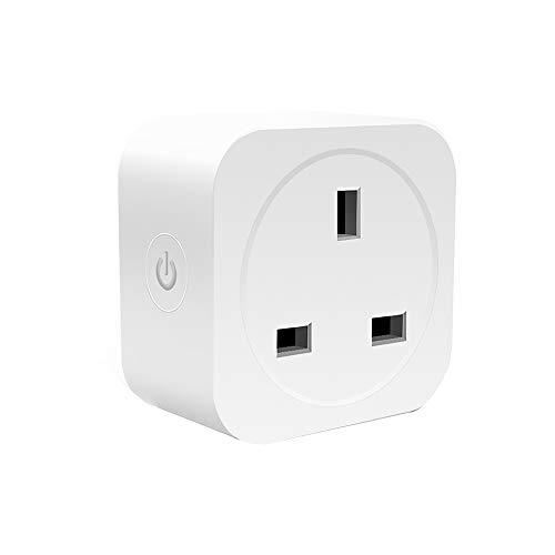 xbwwt 13-A-Wi-Fi-Smart-UK-Stecker, Fernbedienung Ihrer Haushaltsgeräte von jedem Ort aus Anywhere Die Smart-Plug-Steckdose funktioniert mit der Google- / IFTTT-Timing-Funktion von Amazon Alexa