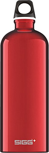 Sigg Traveller, Borraccia d'Acqua Unisex - Adulto, Rosso, 1.0 L