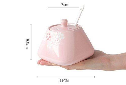 ceramique-avec-couvercle-avec-cuillere-assaisonnement-reservoir-boites-de-sucre-boites-de-sucre-boit