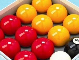 Homegames Queuebrücke für Poolbillard-Kugeln Pub RED & gelb Wettbewerb Set 5.08 cm)