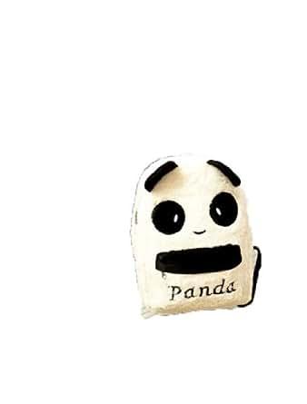 Beau Panda Pelucheux Sac Noir Blanc epaule De Sac a Dos Des Femmes De QIYUN.Z Fille Blanche