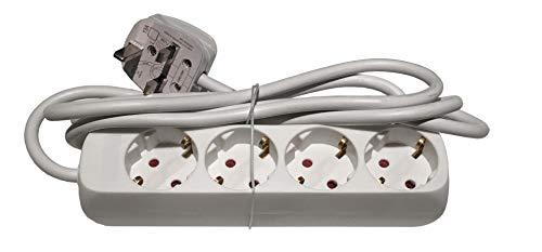 UK Euro Travel Adapter Adapter Art E/F Verlängerungskabel 4 Wege Schuko Typ G Steckdosen mit UK-Stecker -