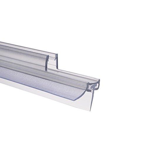 Schulte Dichtung Dusche Duschdichtung Schwallschutz Wasserabweiser Dichtlippe 6 mm 100 cm, 1 Stück, transparent, 4056397002192