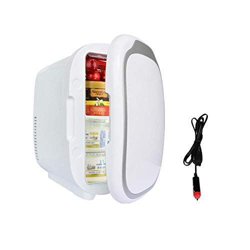 Beatie Auto Kühlschrank Mini, 12V Kühlschrank Gefrierschrank Heizung 6L Mini Auto Gefrierschrank Kühler & Wärmer, Elektrischer Kühlschrank Tragbare Eisbox Reisekühlschrank (Camping-lebensmittel-heizung)