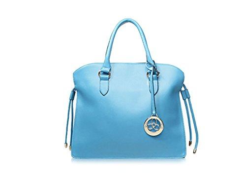 PACK Borse In Nappa Borse In Pelle Di Grande Concessione In Licenza Europa E Negli Stati Uniti Ladies Leisure Messenger Bag,E:Beige D:LakeBlue