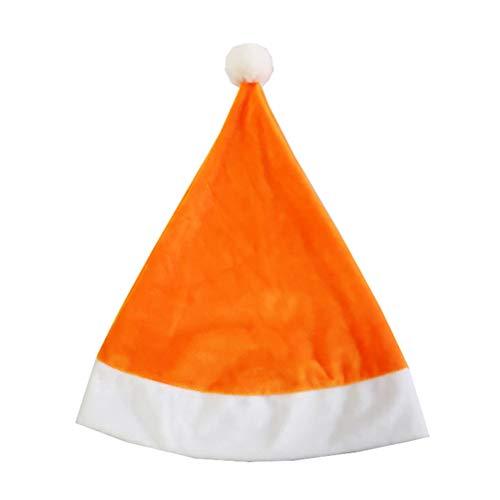 Orange Santa Kostüm - Amosfun Weihnachtsmann Mütze Santa Kostüm