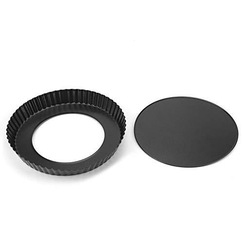 9-Zoll-Antihaft-Pizza-Backformen-Tortenform mit abnehmbarem, lockerem Boden und kohlenstoffreichem, rundem, geriffeltem Quiche-Kuchenform für die Küche 9-zoll-brownie Pan