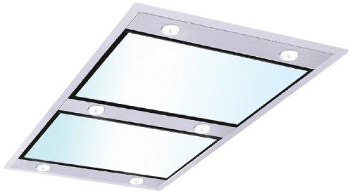 Silverline Vega Intern Premium VGID 104 W Deckenhaube / 100 cm / Edelstahl/Glas Weiß