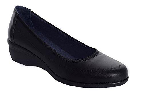Oneflex Clara negro – zapato anatómico cómodo para mujer