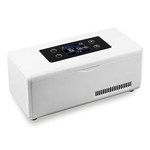 REAQER Tragbare Insulin-Kühlbox 2-18 ° C gekühlte Box Kühltasche Reefer Car Kühlschrank Größe 22 * 10 * 8.5cm für Auto, Reisen, Flugzeug