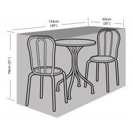 Garland Argent - 2 places-S Housse de protection pour table de bistrot