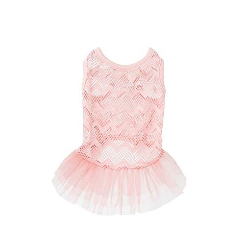 LAYYY Rosa niedlich Openwork Kleid Prinzessin Kleid, Hund Kleid Hundekleidung, Frühling und Sommer Neue Mesh Ballett Rock, Hund Shirt Tshirts Haustier Kleidung Kostüm Katze Haustier Kleidung ()