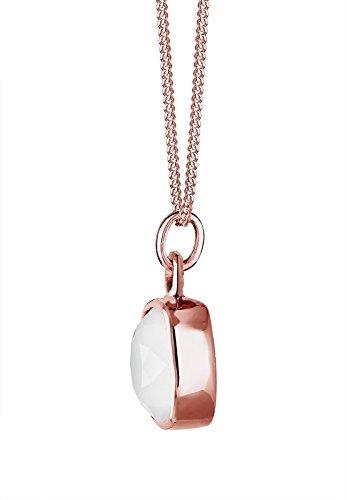Elli - Collier court - Plaqué or - Cristal Swarovski - 45 cm Rose/Blanc