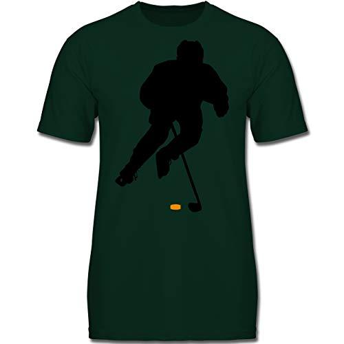 Sport Kind - Eishockey Spieler - 164 (14-15 Jahre) - Tannengrün - F130K - Jungen Kinder T-Shirt