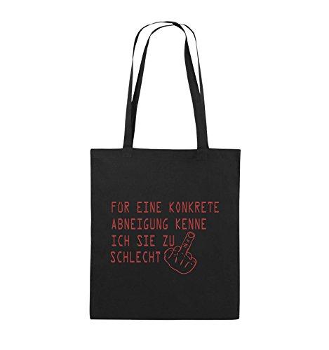 Comedy Bags - FÜR EINE KONKRETE ABNEIGUNG - FUCK FINGER - Jutebeutel - lange Henkel - 38x42cm - Farbe: Schwarz / Pink Schwarz / Rot