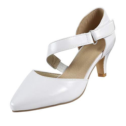 jerferr Trichterabsatz Frauen-Sommer-spitze Zehe pumpt Absatzschuhe Knöchel-Bügel-Kleid-Schuhe