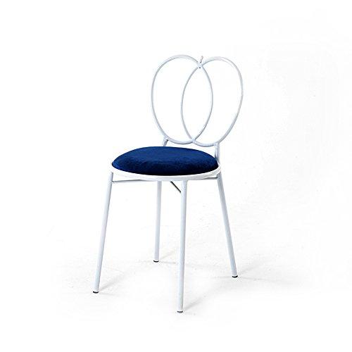 HAIZHEN Sedie Divani poggiapiedi Sgabelli da Bar con Schienale Camera da  Letto Princess Dresser Trucco Sedia Iron Art Nail Chair 3 Colori Famiglia  ...