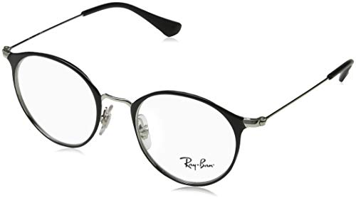 Ray-Ban Unisex-Erwachsene 0ry 1053 4064 45 Brillengestelle, Schwarz (Silver On Top Black)