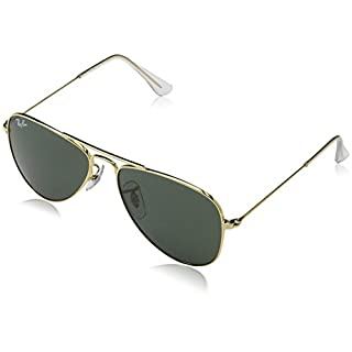 ray ban aviator small gold grün