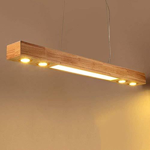Xiao Fan ▶ * LED Holz Pendelleuchte Esstisch Hängelampe Höhenverstellbar, Wohnzimmer/Büro/Cafe/Studie Neutral Licht (Größe: 120 * 12 * 11 cm) ◀ - Vertiefte Fan Licht