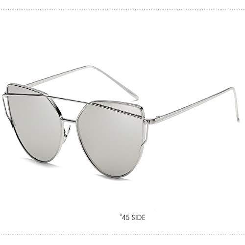 Vintage Metal Sonnenbrille - UV-Schutz-rundes Metall Fram Sonnenbrille, kleines Gesicht Brillen für Männer und Frauen, die sich für verschiedene Frisuren und Gesichtsfarbe - silber-wissen