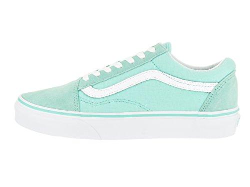 Vans Old Skool Scarpe da skater, Basse, Unisex, Adulto Aruba Blue/True White