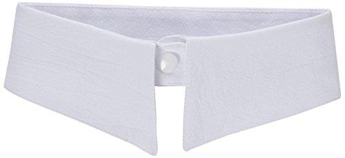 Preisvergleich Produktbild TRIXES Moderner Bubikragen in Weiß für Damen, abnehmbarer Kragen mit Schlaufe