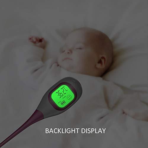 Termometro digitale medico per neonati e bambini Termometri elettronico clinico istantaneo Leggi di più Febbre accurata temperatura corporea Bambino professionale Adulti anziani in alta controluce LCD