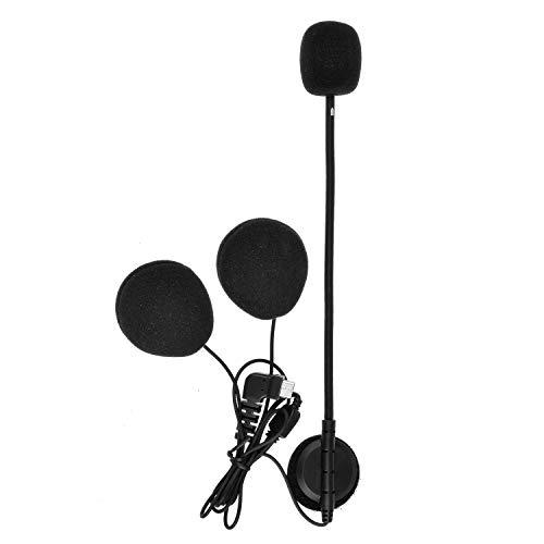 BT-S2 Kit de Accesorios para Sistema de comunicación de Auriculares con intercomunicador Bluetooth para Motocicletas (micrófono Duro con Enchufe Tipo C Nuevo)
