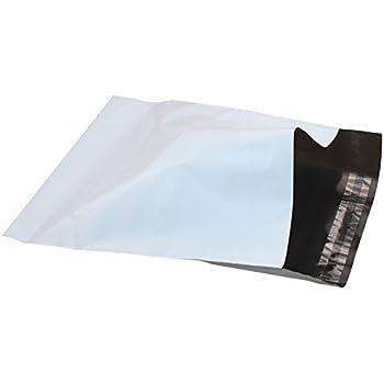 100 Bolsas, Sobres para envío en 25 x 35 cm, de plástico con Cierre de Solapa Adhesiva, Color Blanco Opaco y Muy Resistentes. Envíos Correo Postal, y ...