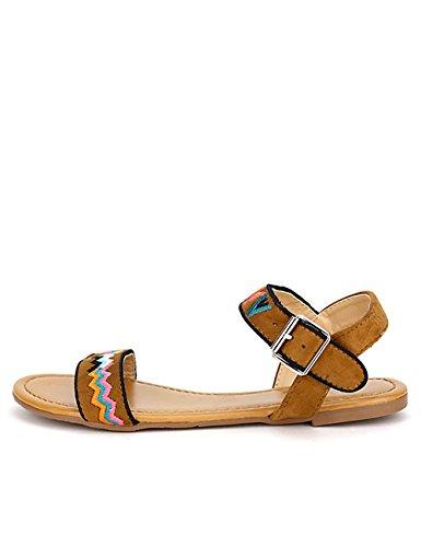 Cendriyon, Sandale Camel C'MODA Chaussures Femme