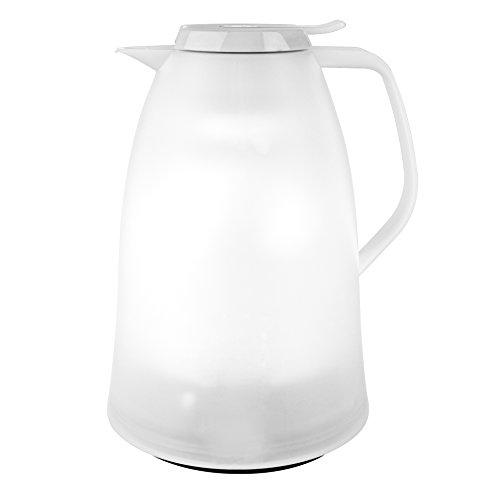 Emsa 514981 Isolierkanne, 1.5 Liter, Quick Tip Verschluss, 100% dicht, Weiß, Mambo