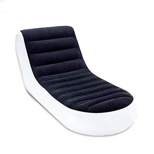 Chunse PVC-Beflocktes Aufblasbares Bett, L-Förmiges Faules Aufblasbares Sofabett, Haus/Kampierendes Tragbares Bett Im Freien -
