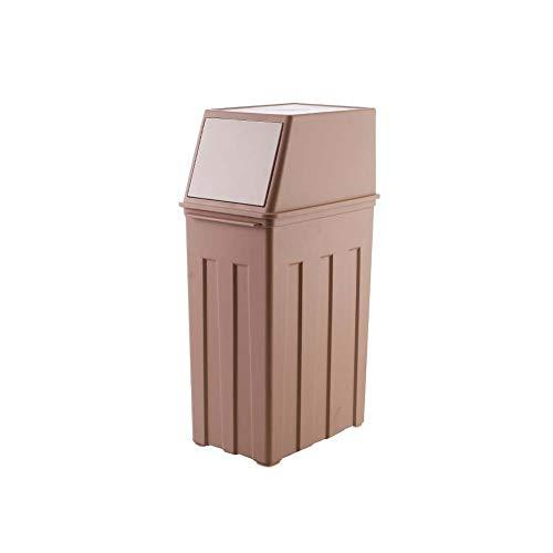 Plastik Mülleimer Küche, Großes Büro Badezimmer Mülleimer Mit Deckel, Braun, 30L