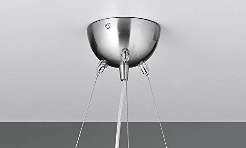 NEG Hängeleuchte UnoPalloni (28,5cm Kugel-Durchmesser) Deckenlampe aus Opalglas und Edelstahl - 3