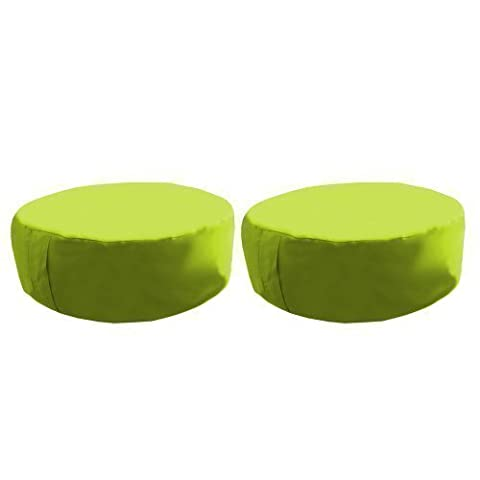 Shopisfy Circle Bean Bag Slab Outdoor Waterproof Set Of 2, Lime Green by Shopisfy