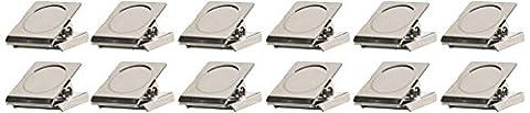 12PCS Spring Loaded Kühlschrank Wand Magnetic Memo Note Clip