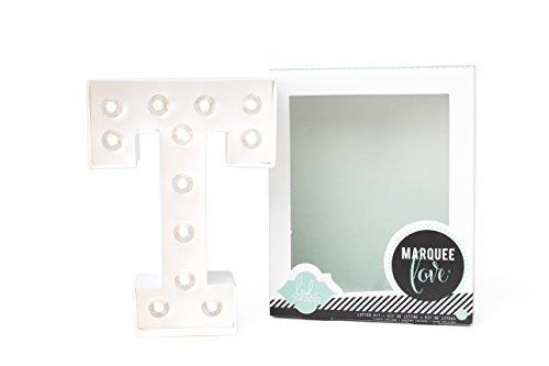 Heidi Swapp Marquee Love Buchstaben T, Papier, weiß, 8.5 x 8.5 x 2.2 cm