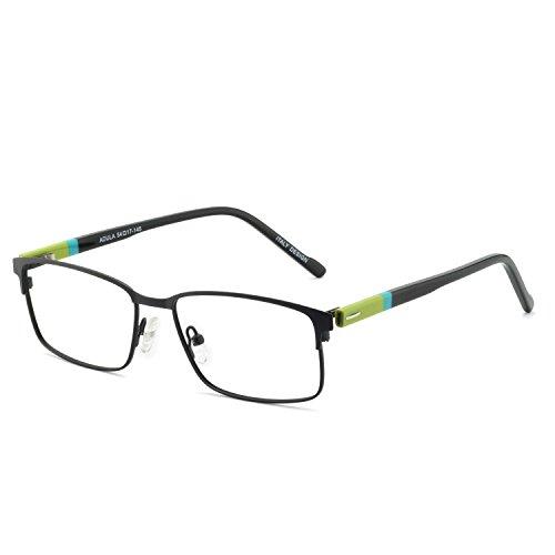 OCCI CHIARI Optische Gläser Herren optische brille Brille Metallrahmen vintage brille mit flexiblen Feder Scharnieren und klaren Linsen Men