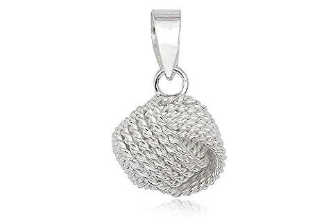EYS JEWELRY® Damen-Anhänger Knoten Kugeln 11 x 10 mm blank 925 Sterling Silber silber im Etui Damenanhänger