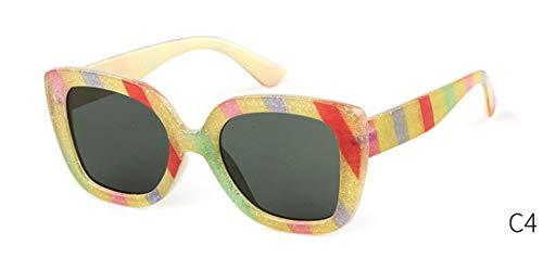 DAIYSNAFDN Retro Übergroße Sonnenbrille Frauen Designer Vintage Yellow Leopard Big Frame Eyewear C4